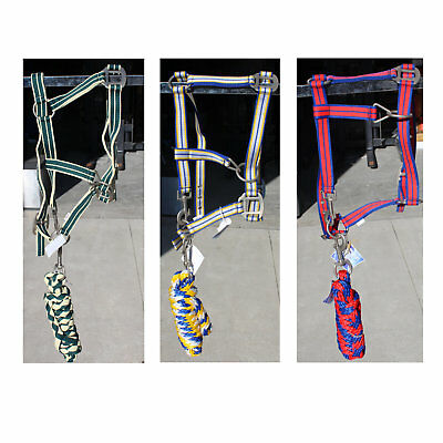 Wholesale Pack of 3 Unicorn Horse Headcollar Matching Lead Rope Head Collar Set