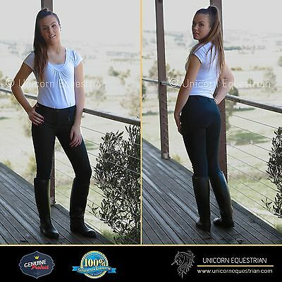 Super Cool Polycotton Ladies Breeches Extreme Stretchy  Clarino Full Seat 8 to20