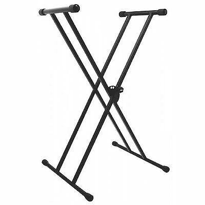 Stand Support Clavier Synthétiseur Double X 5 Positions OnStage KS7191 Noir