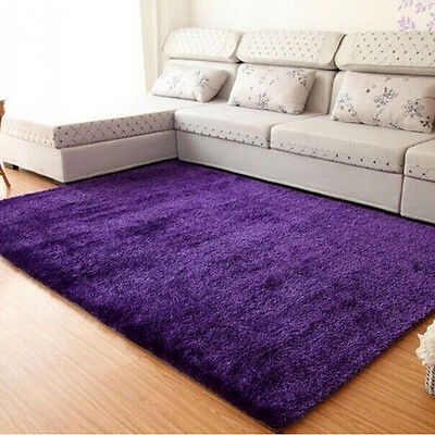 Fluffy Rugs New Anti-Skid Area Rug Floor Mat Dining Room Bedroom Bathroom Carpet