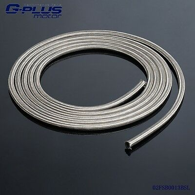 1 Foot AN4 Nylon And Stainless Steel Braided Fuel Oil Gas Line Hose -4AN 1500PSI