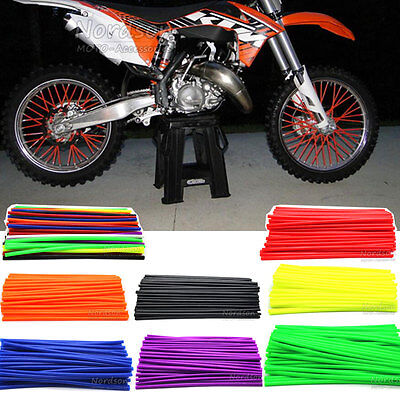 Motocross Wheel Rim Spoke Skins Cover For Honda Suzuki Kawasaki Yamaha BMW KTM