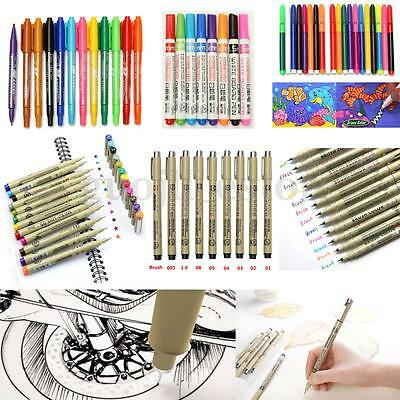 8-20Pcs Micron Sakura Paint Copic Graphic Sketch Drawing Markers Art Pens Set