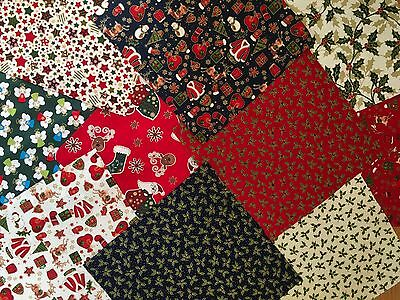 Mixed 100% Cotton Fabric Material Layer Cake Charms Value Bundles Squares x 10