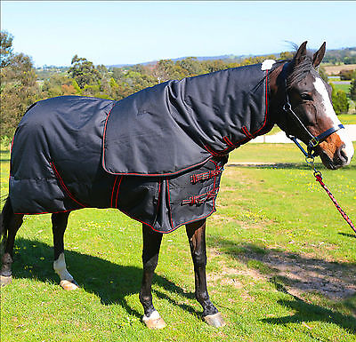 1200D Winter Horse Rug Detachable Neck Waterproof 300G Free Postage All Sizes