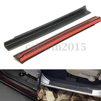 2x Door Sill Plate Scuff Entry Guard Protection For Jeep Wrangler JK 2007-2016