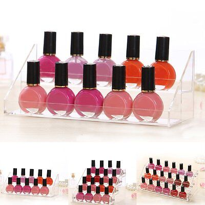 3 Sizes Clear Acrylic Tattoo Ink Nail Polish Display Stand Rack Organiser Holder