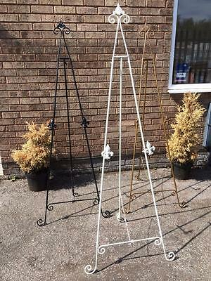 """White Gold Black 72""""/ 6 Foot Iron Easel Display Picture Wedding Menu Stand Aa-23"""