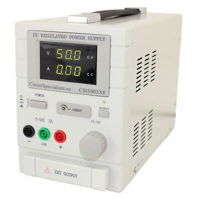 Adjustable Linear DC Bench Power Supply 0-50V 0-3A Variable CSI5003XE