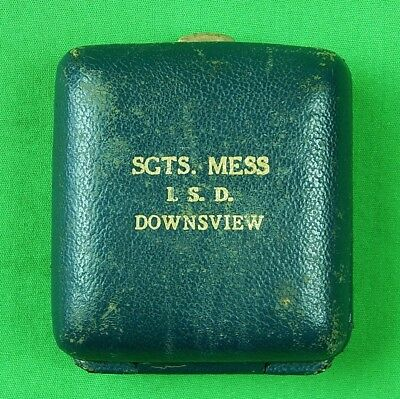British English WW1 WWI Sergeant Sgts. Mess I. S. D. Downsview Personal Box Case