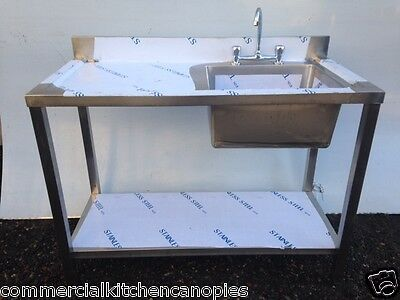 new double stainless steel commercial catering kitchen sink unit