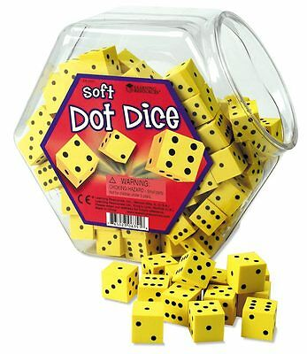 Learning Resources Soft Foam Dot Dice Set of 200 - NEW