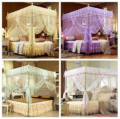 Vintage Princess Lace Bedding Canopy Netting Mosquito Net Full Queen King Size