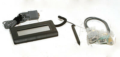 Topaz T-L460-B-R Serial LCD Signature Capture Pad w/all cables