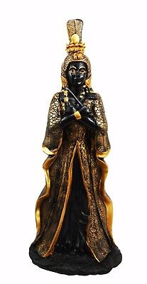 "12"" Tall Ancient Egyptian Queen Goddess Isis Robed Cleopatra Beautiful Figurine"