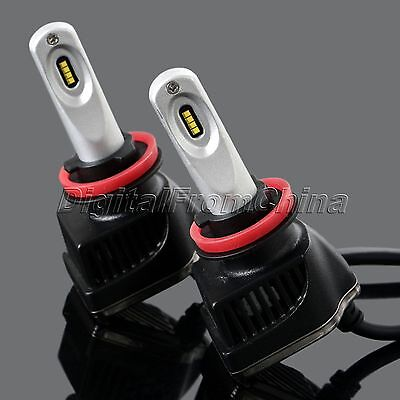 1Pair H8 H9 H11 16000LM Car Truck Headlights Headlamp PHILIPS LED Chips Bulb