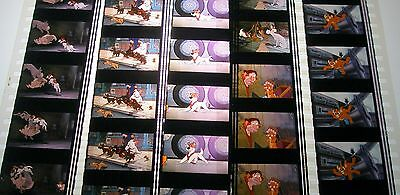 Disney's - Oliver and Company -  Rare Unmounted 35mm Film Cells - 5 Strips