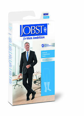 Jobst For Men Ambition Knee 15-20 Black Sz6 Lng