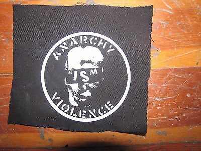 GISM Screen printed thick canvas crust patch punk hardcore grind anarchy