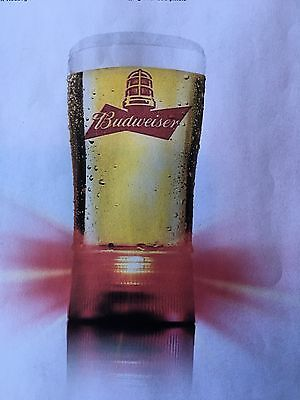 Budweiser Red Light Raise a Glass to Hockey,Goal-Synced Glass  new in box