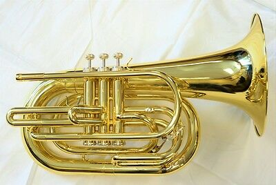 TEMPEST Bb MARCHING BARITONE LACQUER NEW DESIGN BIG SOUND SOLID BUILD ERGONOMIC