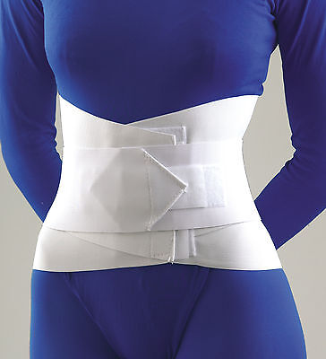 "Lumbar Sacral Support W/Abdominal Belt 10"" White Lg"