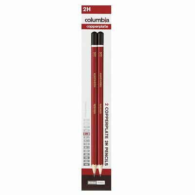 Columbia Copperplate Lead Pencil Hexagonal 2H 2 Pack