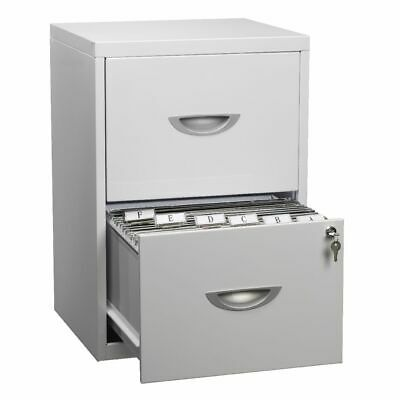 Soho 2 Drawer Filing Cabinet White