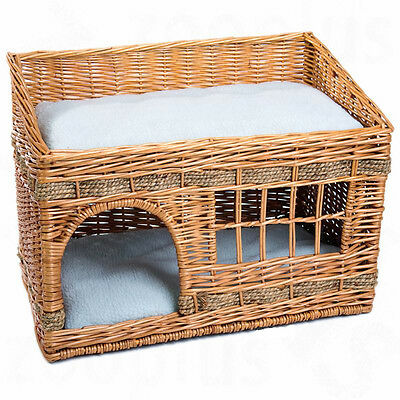 Indoor Cat House Bed Kitten Pet Pets Home Shelter Den With Comfortable Cushions