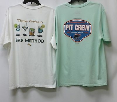 2nd Quality NEW Tommy Bahama Men/'s T-Shirt Crew Neck 2 for 23.99 100/% Cotton .