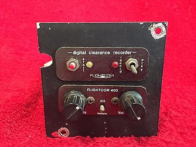 Flightcom 403 Intercom With Digital Clearance Recorder