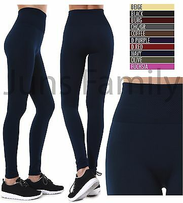 Women NEW EXTRA WIDE BAND High Waist Tummy control Fleece Thick Warm Leggings