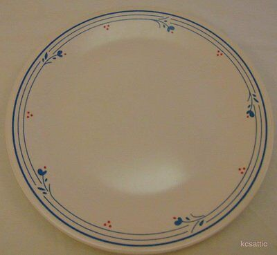 """4 Corning Ware Corelle Country Violets Dinner Plate 10.5"""" Lot"""