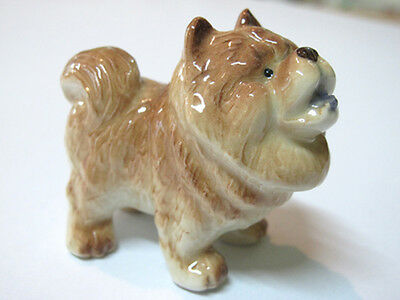 Hand Painted Miniatures Collectible Ceramic Chow Chow Dog Breed FIGURINE