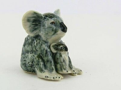 Porcelain Miniatures Collectible Ceramic Koala FIGURINE