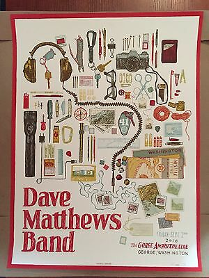 Dave Matthews band poster 2016 The Gorge!! SOLD OUT!!! Night 1 Sept 2nd, Rare!!