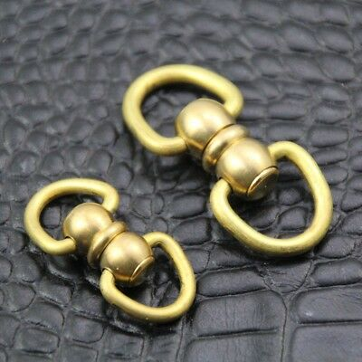 Brass Dual Round Head Rivet studs screw D Ring Nail Spiles punk kelly stopper
