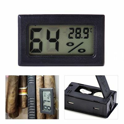 New Digital Hygrometer Thermometer Humidity Monitor Meter For Humidor