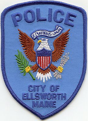 Ellsworth Maine Me Police Patch