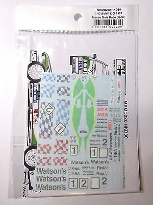 "1/43 BMW 320i 1997 Macau Guia ""Watsons"" Decal Winkelhock Soper for Minichamps"