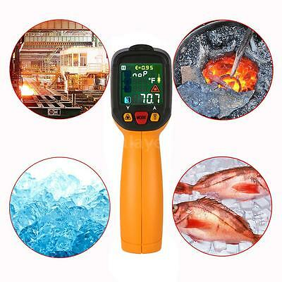 K Type Digital Infrared IR Thermometer Ambient Temp Humidity Tester Meter I1O2