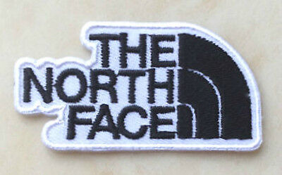 THE NORTH FACE Patch Iron-On Embroidered Badge 6cm White Aufnäher Toppa Bordado