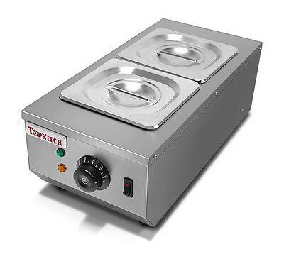 Electric Water Heating Chocolate Melter 2-Tanks Chocolate Melting Machine 220V