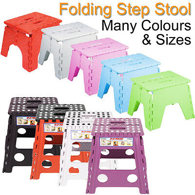 Folding Step Stool Plastic Kids Bathroom Sink Toilet Childrens Boys Girls Seat