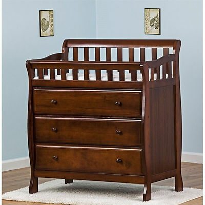 Dream On Me Marcus Changing Table and Dresser Baby Tables in Espresso