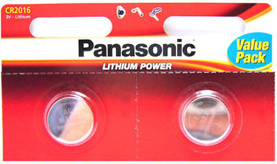 2 Panasonic CR2016 Batteries Lithium Battery 3V Button Coin Cell CR 2016 DL2016