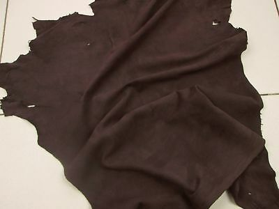 Silky soft goat suede kid with velvet nap Mocha BARKERS HIDE & LEATHER H381