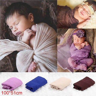 Newborn Baby Infant Wrap Knit Towel Photography Props Wraps Photo Cloth Gauze