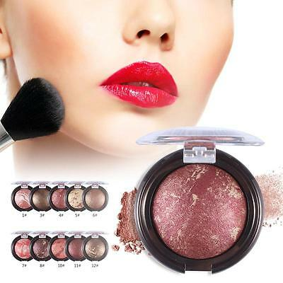 Party Queen Shimmer Bronzer Highlight Powder Blush Palette Comb Mineral Baked