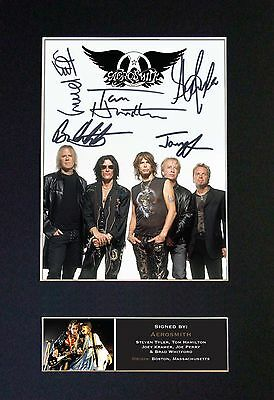 AEROSMITH Signed Mounted Autograph Photo Prints A4 463
